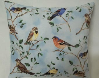 Bird Pillow Gift For Bird Lover Decorative Pillow, Spring Summer Decor