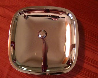 Mid-century Chrome and Bakelite Serving Tray