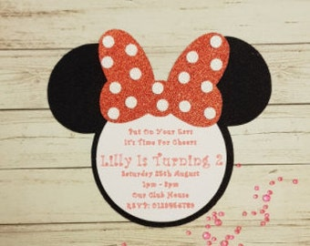 Minnie Mouse Party Invite - Invitations, Minnie Mouse, Birthday, Girl