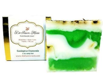 Spa, Soap, Eucalyptus Chamomile Soap, Bath, Body, Vegan Soap, Soap for Men, Spa Gift, Christmas Soap Gift, Natural Soap, Essential Oil Soap