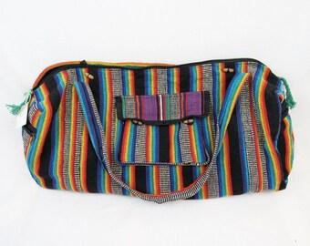Yoga bag Sports Bag Hippie Bag Boho Bag Gym Bag Rainbow print