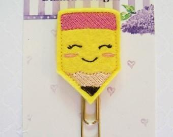 Pencil Planner Clip, Bookmark, Planner Accessory, Paper Clip