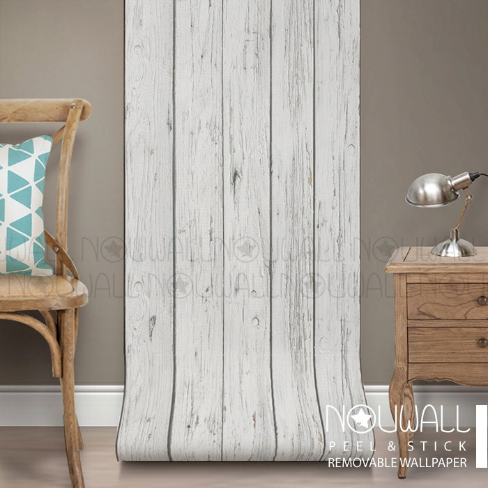 Peel And Stick Textured Wallpaper: Grey Wood Texture Wallpaper Peel And Stick Home Decor Wall
