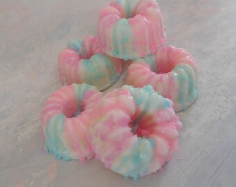 Cotton Candy Soap - Birthday Party Favor - Bundt Cake Soap - Cake Soap - Homemade Soap - Faux Food Soap - Glycerin Soap - Bakery Soap Gift