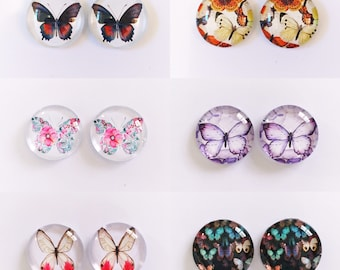 The 'Butterfly Effect' Glass Earring Studs