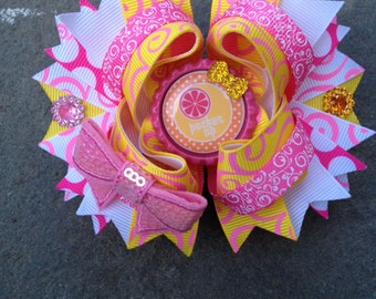 Boutique hairbow on attached french barette