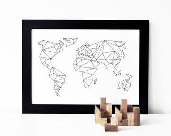 A4 oder A3 Print Geometrical World