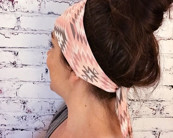 Navajo - Peach - Eco Friendly Yoga Headband