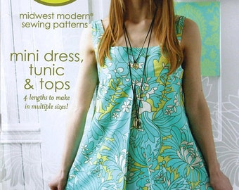 Amy Butler Patterns / Mini Dress Tunic & tops / sewing Pattern / SHIPS FREE with Fabric Purchase