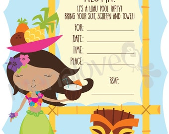 Luau Birthday - DIY Invite