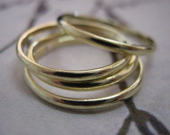 Stack ring, Set of 4, Stackable gold rings, Stacking, Gold rings, 18K Gold Rings, Smooth rings, Dainty ring, Knuckle ring