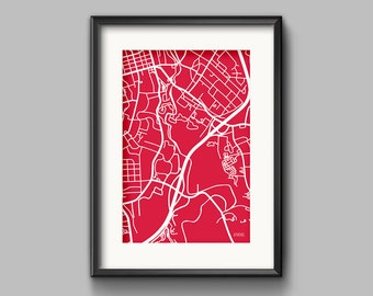Athens, GA Map Art