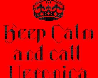 Quote Me: Call Veronica Cross Stitch Pattern - Professional Pattern Designer