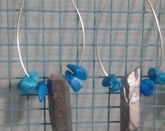 Quartz and Turquoise Earings