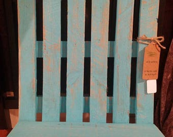Pallet Wood Distressed Wood Picket Fence Hanging Shelf