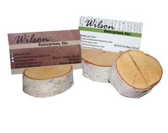 White Birch Card Place Holders (set of 12)