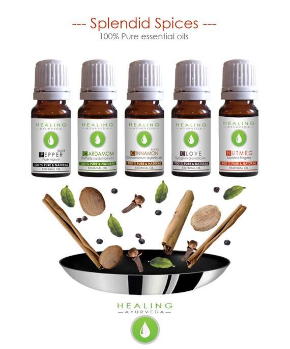 Spice Essential oils- Spice oil kit- Potpourri oils- Pure essential oils set-Aromatherapy oils- Natural oils- culinary- Healing ayurveda oil