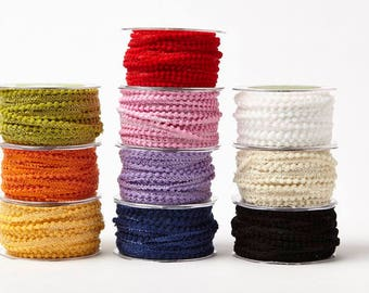 "May Arts 5 yards 3/8"" Mini Pom Pom Ribbon 419"