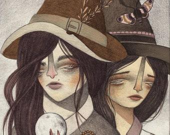 Halloween Series Art Print: Witches