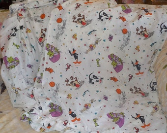 Vintage Sheets, Sheet Sets, Cartoon Sheets , Looney tune Sheet Set Twin Size Flat Sheet and Fitted Sheet.Vintage Home Decor, :)S