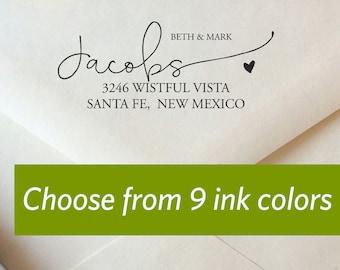 Modern Calligraphy Return Address Stamp, Custom Color Return Address Stamp, We've Moved! Stamp, Wedding Address Stamp, Personalized Stamp
