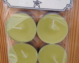 Eldritch Essences 6 Pack Tea Lights *Mellow Yellow*