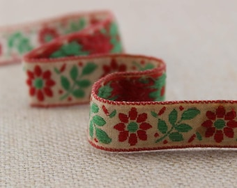 1 Yard of Brocade Ribbon Trim 0.6 Inches Wide