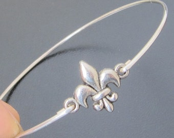 Fleur de Lis Bracelet, Silver Fleur de Lis Jewelry, Paris Chic, Parisian Jewelry, Fleur Bracelet, Fleur Jewelry, Fleur de LisJewlery