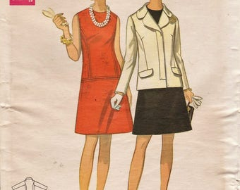 Butterick 5414 / Vintage Sewing Pattern / Dress And Jacket / Bust 37