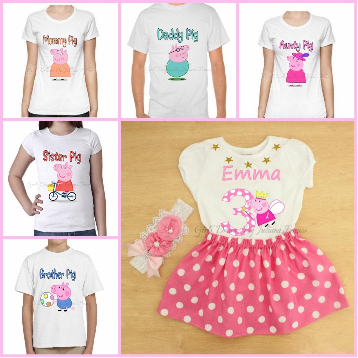 Peppa Pig Birthday Shirts For Family