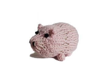 Patricia the Adorable Pig! Knitted Toys, Stuffed Animal, cute stuffed pig, gift, plush pig, toddler toy, farm toy, kids, soft pig toy