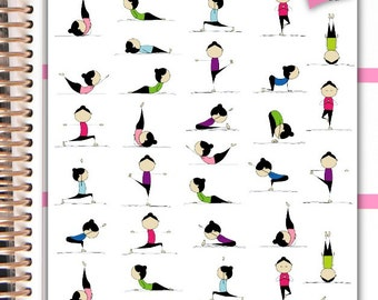 Fitness Stickers Exercise Stickers Workout Stickers Planner Stickers Erin Condren Functional Stickers Decorative Stickers NR1104