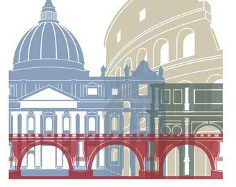 Rome Cityscape Art Print