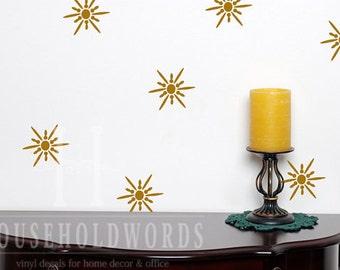 Ceiling Decals, Star Vinyl Wall Decals, 24 Star Decals, Window Stickers, Star Stickers, Retro Kitchen Decor, Bathroom Wall Decal Farmhouse