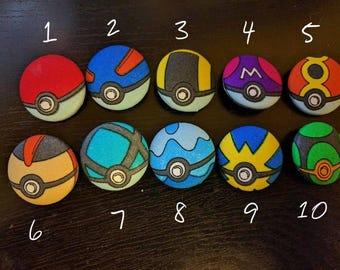PokéButtons - Pokémon Poké Ball Cloth Buttons LARGE
