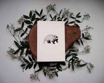 Hello Badger Card