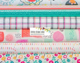 Art Gallery's Mint & Coral Playing Pop Bundle - 9 Fabrics - See Notes