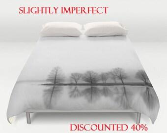 SALE! 40% OFF-Discounted King Duvet Cover-Tree Duvet Cover-Black & White Duvet Cover-Microfiber Bedding-King Duvet Cover-Minimalist Bedding