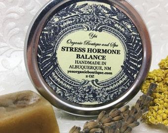Stress Hormone Balance Salve - Combats Anxiety & Fatigue - Restorative - Ashwagandha, Rhodiola, Holy Basil - Traditional Healing - Ayurveda