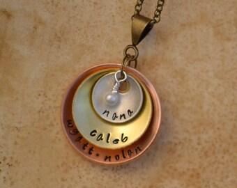 personalized nana jewelry, nana necklace, nana gift, custom name pendant