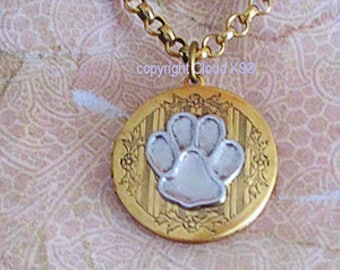 heart animal paw lockets image in my site forever of print images rescue the necklace prints group