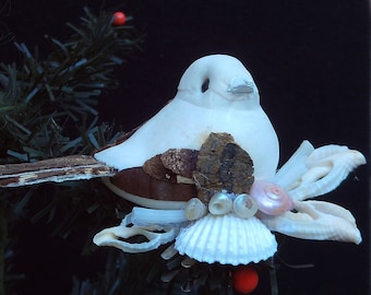 Bird, Ornament, Handmade, One a kind,