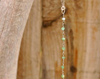 Chalcedony Dangle Necklace