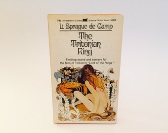 Vintage Sci Fi Book The Tritonian Ring by L. Sprague de Camp 1971 Paperback Fantasy
