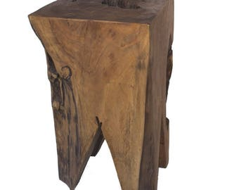 Quatro side table from teak root