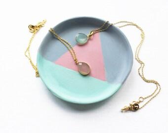 Geometric Ring Dish, Blush Pink, Mint Green, Trinket Dish, Ring Dish, Trinket Dish, Clay Ring Dish, Jewellery Dish, Jewelry Dish, Geometric