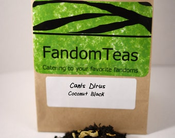 Canis Dirus: GoT Inspired Tea Blend (Coconut Black)