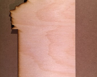 MT Montana Wood Cutouts - Shapes for Projects or Other Use