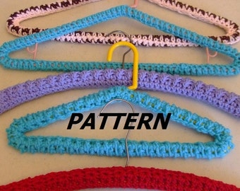 Crochet hanger etsy pattern hanger covers crocheted dt1010fo