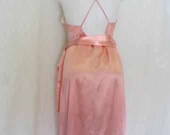 Satin Nightgown Peach Nightgown Large Satin Nightgown